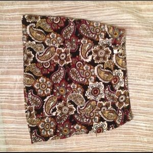 Paisley printed corduroy mini skirt